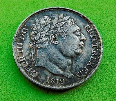 DETAILED  NEF  GEORGE  III  1819  SILVER  SIXPENCE  6d....  LUCIDO_8  COINS