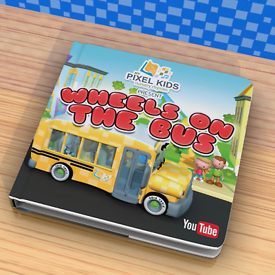 Childrens Board Book Pixel Kids Wheels on the Bus