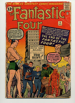 Fantastic Four #9 (1962 Marvel) 3Rd Silver Age Appearance Of Sub-Mariner