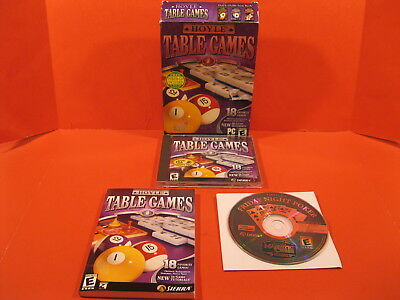 Hoyle Table Games - Pc - Cd - Rom - 2 Disks & Instructions - Free Shipping
