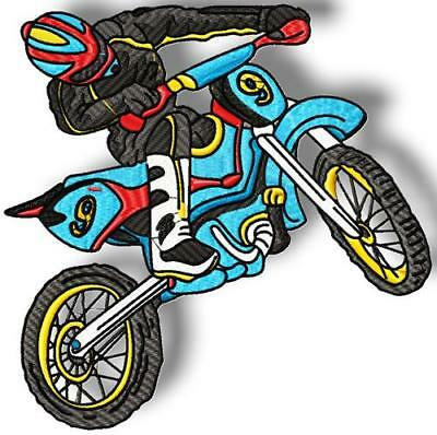 Dirt Bikes 10 Machine Embroidery Designs Cd 4 Sizes
