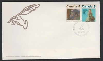 Canada- OFDC 658-59 1975 Canadian Authors pair