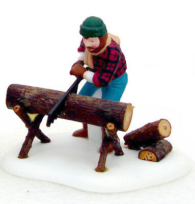 Dept. 56 Lumberjack Woodcutter with Seesaw Only New England 56590