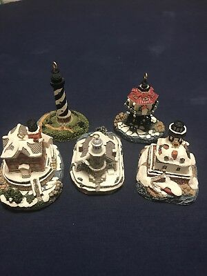 Harbour Lights Christmas Ornaments set of 5 ornaments