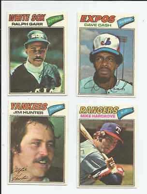 1977 Topps Cloth Stickers 10 Different Hunter Madlock Cash NM-MT