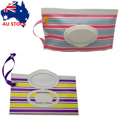 Clean Wipes Carrying Case Wet Wipes Bag Cosmetic Pouch Wipes Container Optional