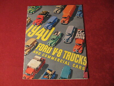 1940 Ford Truck Original  Showroom Brochure Sales Booklet Catalog Old Book