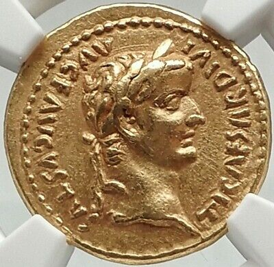 TIBERIUS Authentic Ancient TIMEof JESUS 15AD BIBLICAL GOLD Roman Aureus Coin NGC