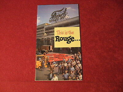 1950 Ford This is The Rouge Original Brochure Sales Booklet Catalog Old Book