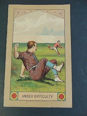 ANTIQUE 1883 YALE BASEBALL SCORECARD w COLOR LITHOGRAPH ON COVER  BROWN vs YALE