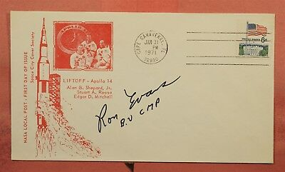 1971 Astronaut Ron Evans Signed Apollo 14 Launch Nasa Local Post