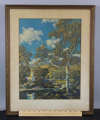 Antique MAXFIELD PARRISH Chromolithograph Print, Early Autumn, NR