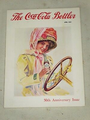 Vtg Coca Cola Bottler 1959 The 50Th Anniversary Issue Great Ads