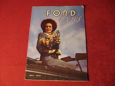 1940 Ford News May Showroom Original Brochure Sales Catalog Old Book Booklet
