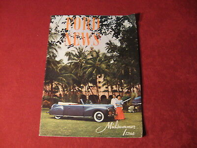 1940 Ford News August Showroom Original Brochure Sales Catalog Old Book Booklet