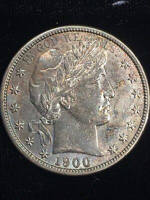 1900-S Barber Half Dollar With Attractive Toning From Private Southern Hoard