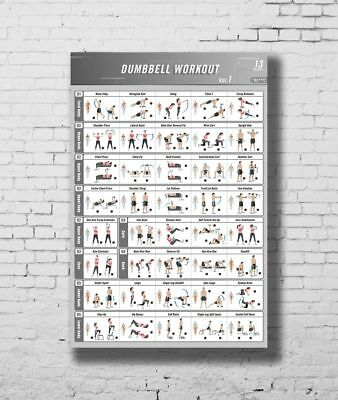 graphic relating to Dumbbell Workout Chart Printable called C-51 BODYBUILDING Health and fitness Dumbbell Training Vol.1 Gymnasium Chart