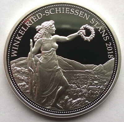 Switzerland 2018 Shooting Festival Stans 50 Francs Silver Coin,Proof