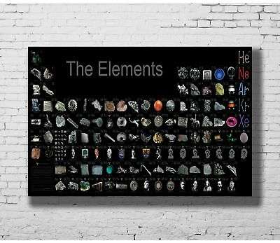 Q631 24x36 14x21 40 Poster Periodic Table of the Elements Realistic Art Hot