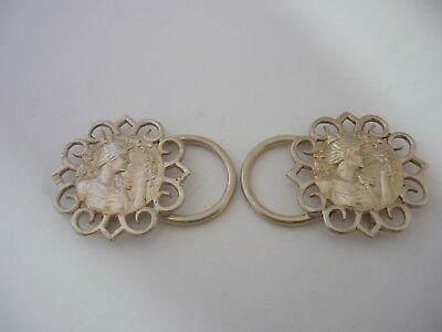Superb Rare Unusual Antique 1901 Sterling Silver Buckle By Lawrence Emanuel
