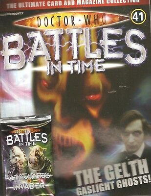 *DOCTOR WHO - BATTLES IN TIME # 41: THE GELTH + 1 PACK OF TRADING CARDS [Nn2]
