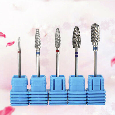 1Pc Stainless Steel Burr Electric Nail Drill Bit Tungsten Carbide Manicure Tool