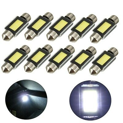 10X Auto Soffitte Sofitte COB LED 36mm Innenraumbeleuchtung Lampe Weiß 6000K 12V
