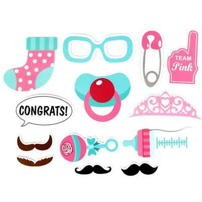Baby Shower Photo Booth Props Little Boy Girl Mister New Born Party Decor C
