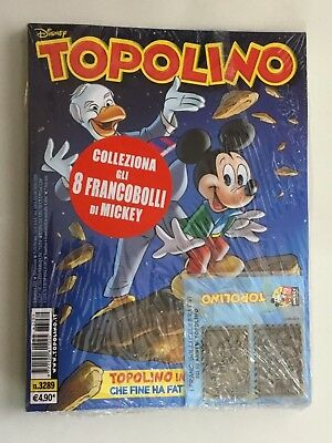 Topolino 3289 Con Francobolli Celebrativi IN METALLO Disney PANINI COMICS