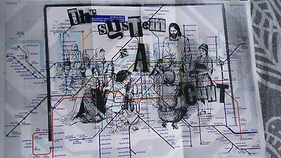 Ltd tube map..pasteup...System is. Original colcreamcrop outsider graffiti