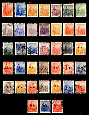 Argentina: 1911-14 Classic Stamp Collection With Official Department Overprints