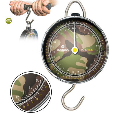 Saber Dpm Camo Specimen Fishing Scales 27K Carp Fishing Dial Scales + Weigh Bar