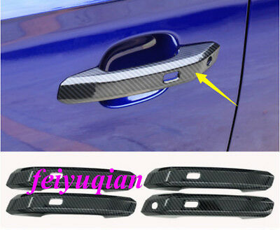 Fit For Audi A4 B9 4-door Sedan 2016-2017 Side Door Handle Cover Stripe Trim 4X
