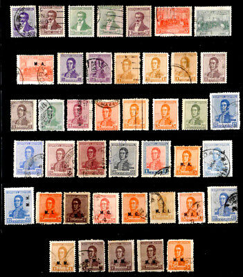 Argentina: 1917-23 Classic Stamp Collection With Official Department Overprints