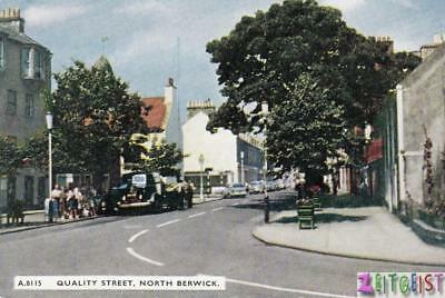 Quality Street, North Berwick, East Lothian - vintage Scotland postcard