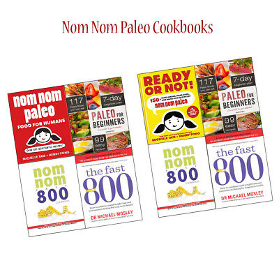 Nom Nom Paleo Cookbook Collections Set Paleo for Beginners and Fast 800 NEW