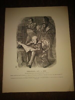 Vintage Punch Magazine Print. Versailles Oct 5th 1860. Ghost of Napoleon