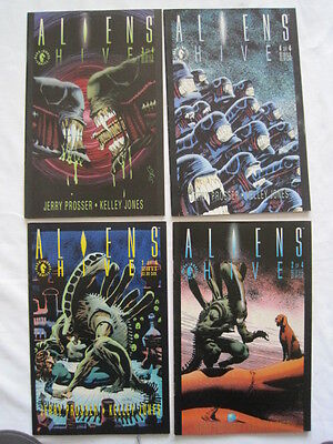 "ALIENS ""HIVE"". COMPLETE 4 ISSUE MINI SERIES by PROSSER & KELLEY JONES. DH.1992"