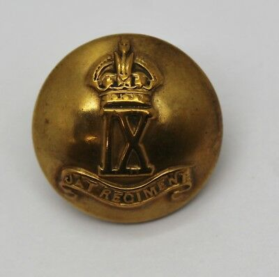 Indian Army 9th JAT Infantry Regiment Button - King's Crown #13