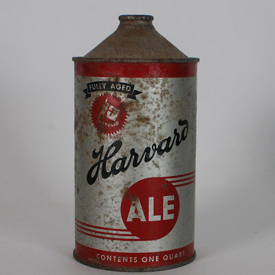 Harvard Brewing Ale Quart Cone Top Beer Can Lowell Massachusetts 211-18 Deco