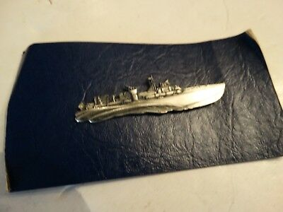 Vintage WW2 WWII Navy harbor Boat pin sterling? pt