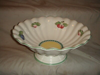 Villeroy & Boch French Garden Fleurence Footed Fruit Center Bowl