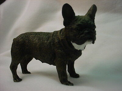 FRENCH BULLDOG Dog Figurine HAND PAINTED Resin Statue FRENCHIE Puppy NEW Brindle