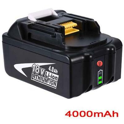 18V 4.0AH Battery For Makita BL1860 BL1850 BL1840 BL1830 with Fuel Guage