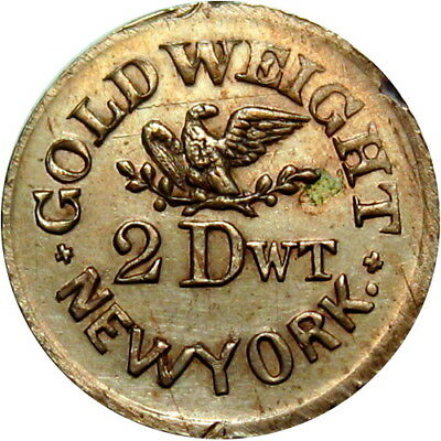 New York City Civil War Token John P Gruber Apothecary Gold Weight COPPER NICKEL