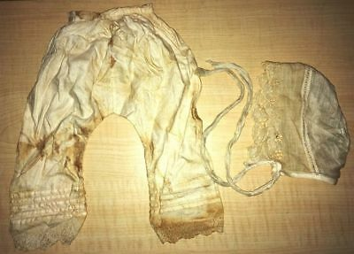 Antique Baby / Doll Bloomers / Britches & Bonnet