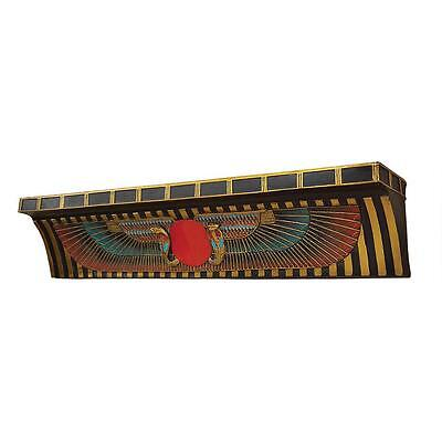 "23"" Ancient Egyptian Temple Ceremonial Sun Disk Shelf Replica Reproduction"