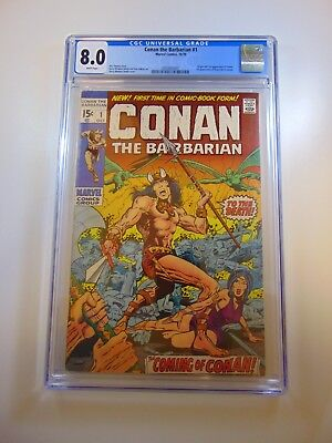 Conan The Barbarian #1 CGC 8.0 White Pages FREE SHIPPING!