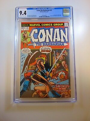 Conan The Barbarian #23 1st appearance of Red Sonja CGC 9.4 OWW pages