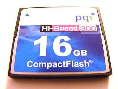 16 GB Compact Flash Karte HI-SPEED ( 16GB CF Card ) ,, PQ1 ,, gebraucht